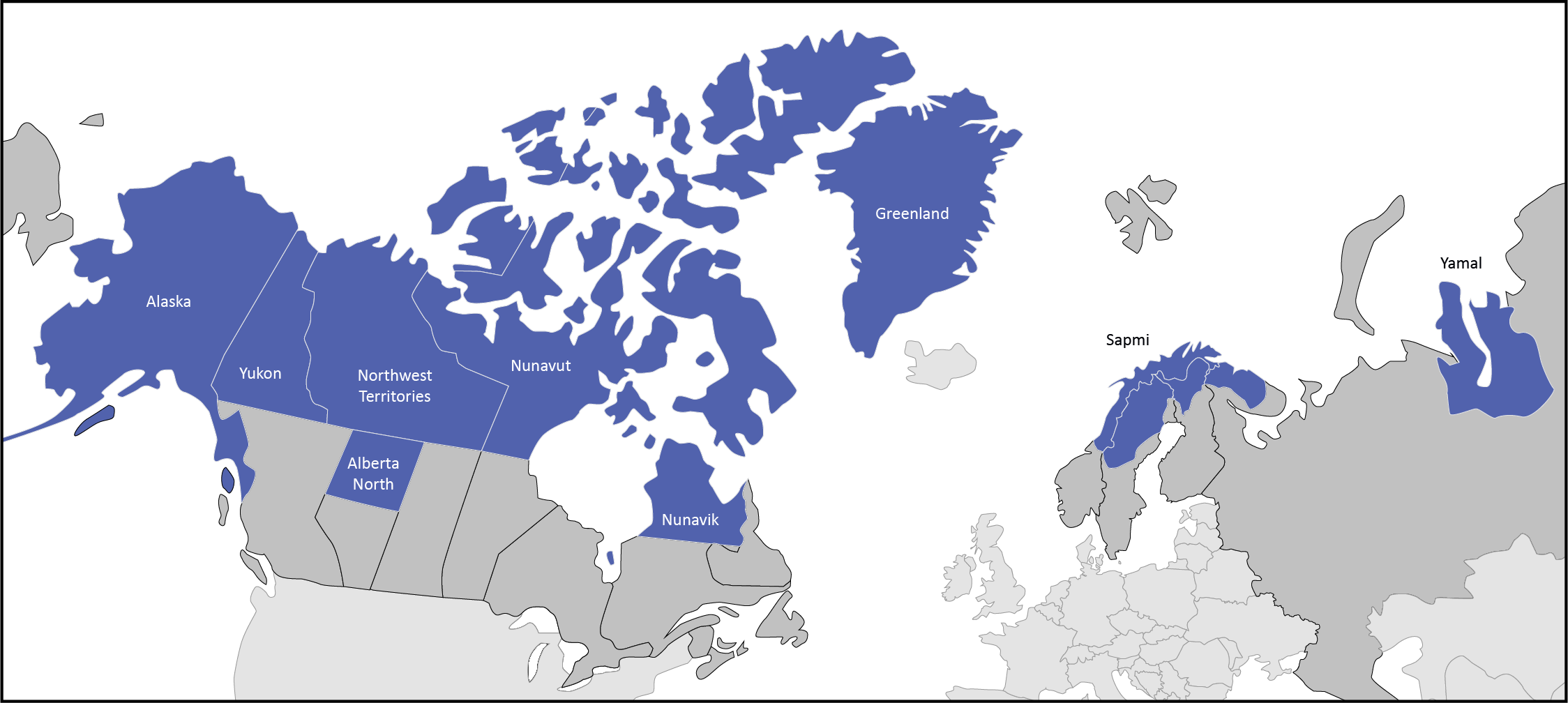 Map Participating Contingents for the 2020 Arctic Winter Games